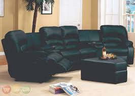 Black Leather Sectional Sofa With Recliner Leather High Back Sectional Sofa With Recliner And Triangular