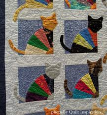 The Crazy Cat Lady by Kaye Winalis, 2014 Tucson Quilters Guild ... & The Crazy Cat Lady by Kaye Winalis, 2014 Tucson Quilters Guild show,  closeup photo. Cat Quilt PatternsCrazy ... Adamdwight.com