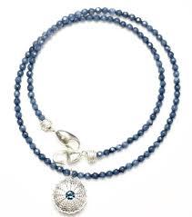 sea urchin pendant necklace single sterling silver london blue topaz