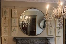 1960S French Large Round Mirror  Paintings & Mirrors For Large Circle  Mirrors (#1