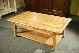 Tapered Coffee Table Legs Custom Wood Coffee Tables With Shelf And Straight Legs By