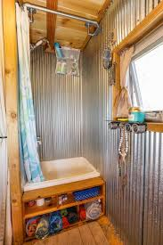 tiny house bathrooms. Metal Shower In Tiny House Giant Journey Bathrooms A