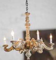 hand carved wood chandelier