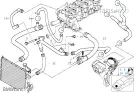 cooling system water hoses bmw 3 e46 320d m47 europe cooling system water hoses