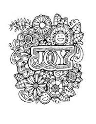 Small Picture Joy Fruit of the Spirit Coloring Page Bible Fruit of the