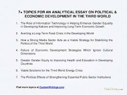complete guide on writing an analytical essay on political economic  4 1