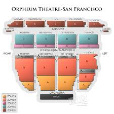 Golden State Theater Seating Chart Orpheum Theatre San Francisco A Seating Guide For Hamilton