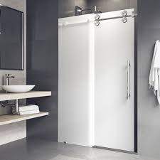 vigo elan 60 x 74 single sliding frameless shower door chrome