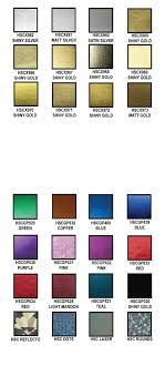 Metallic Foil Color Chart