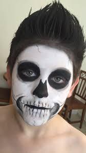 kids skeleton face paint for skeleton costume