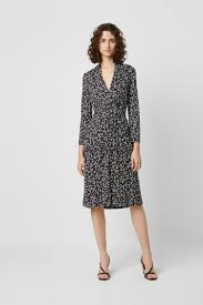 French Connection Size Chart Uk Angelina Meadow V Neck Midi Dress