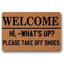 Us 2399 Selamat Datang Hai Apa Kabar Silakan Melepas Sepatu Dekoratif Keset Dalamluar Ruangan Keset 236