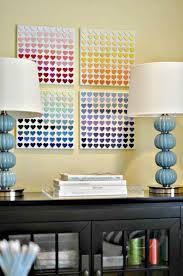 teenage room ideas diy. paint chip heart art teen room decor diy for bedroom teenage ideas n