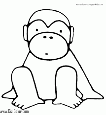 Monkeys Coloring Pages Kizi Coloring Pages