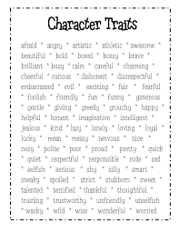 amusing good character traits resume for your personality traits   essay interesting good character traits resume about character traits list middle school image gallery hcpr