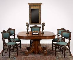 victorian style dining table turned