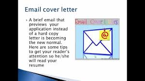 Email Cover Letter Format Youtube
