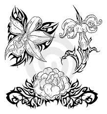 Ilustrace12306929 Tetování S Květinami Autor Bastetamon