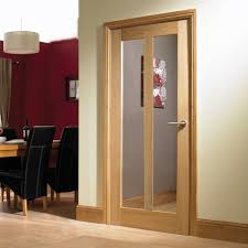 vermont oak door with clear safety glass