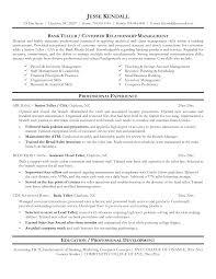 Teller Resume Objective Examples Mathew Sevte