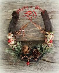 Beaded Horseshoe 'COUNTRY CHRISTMAS' Draft-Christmas horseshoe decor,  christmas horseshoe, western
