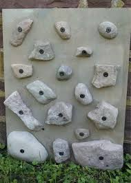 natural stone rock climbing holds made