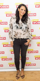 martine mccutcheon confesses she fancies love actually co star chic and cheerful for the episode martine donned a cream bird printed blouse and