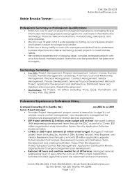 Good Overview For Resume Resume Sample