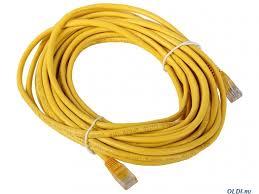 "Патч-корд литой ""<b>Aopen</b>"" <b>UTP</b> кат.5е 10м желтый ANP511_10M_Y"