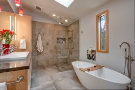 this master bath renovation won the national chrysalis awards in 2017 for bath remodel 50 000 75 000 designed by ronda lane and produced by cary