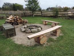 delivered outdoor fire pit benches grill ideas