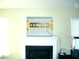 mounting tv above gas fireplace above gas fireplace over ideas with