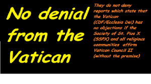 Has No Objection Vatican CDFEcclesia Dei has no objection if the SSPX and all 35