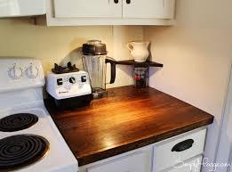 diy wood plank kitchen counter trendyexaminer