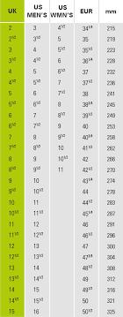 Chasse Shoe Size Chart Super Latok Wmns
