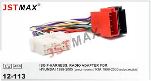 online get cheap auto stereo wiring harness aliexpress com jstmax 12 113 iso auto radio wiring harness for hyundai kia wire cable stereo