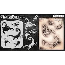 Amazoncom Tattoo Pro Stencils Series 5 Scorpions