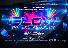 glow flyer glow in the dark party flyer 2bundles com