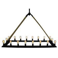 trendy edison chandelier u rectangle with edison chandelier