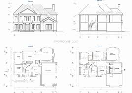 house plans and elevations in dwg format beautiful free autocad house plans dwg lovely house plan