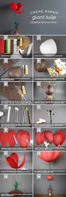 White Paper Flower Bulbs How To Make A Giant Paper Tulip