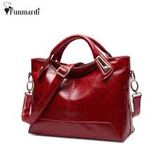 women oil wax leather designer handbags