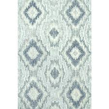 black and white rug home transitional hand hooked grey blue wool area 7 ikat rugs diamond