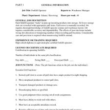 Driver Job Description For Resume Resumes Forklift Resume Templates Mechanic Sample Objective 94