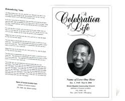 How To Make A Funeral Program How To Create An Obituary Program Singlepub Co
