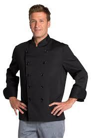 Veste De Cuisine Noire Pas Chère Vêtements Chr Et Collectives
