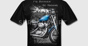 harley davidson t shirt i d rather be riding t shirt spreadshirt