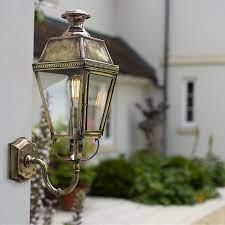antique brass outdoor wall lantern