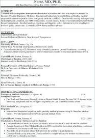 Curriculum Vitae Tamplates Curriculum Vitae Medical Medical School Resume Samples General