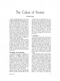 the culture of poverty oscar lewis poverty society